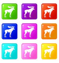 moose set 9 vector image