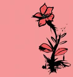 ink flower vector image vector image