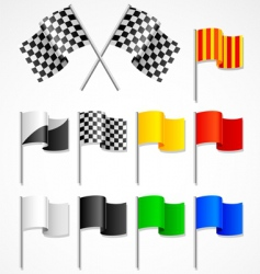 sport flag vector image vector image