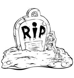 zombie graffiti vector image vector image