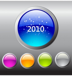 2010 buttons vector image