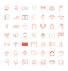 49 gift icons vector image