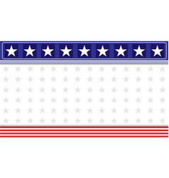 abstract american flag decoration banner vector image