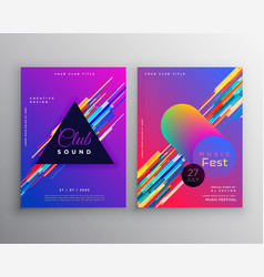 abstract vibrant music party club flyer template vector image
