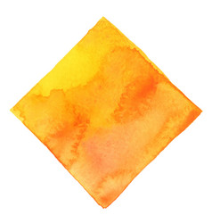 abstract yellow and orange square watercolor vector image