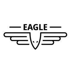 Air force eagle logo outline style vector