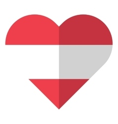 Austria flat heart flag vector