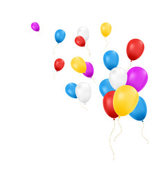 balloons isolated composition of balloons vector image