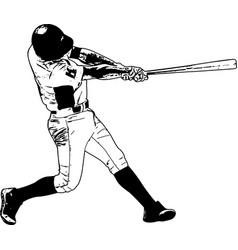 Baseball player sketch vector