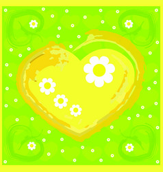 beautiful spring card with elements vector image