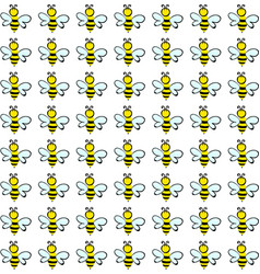 bee wallpaper on white background vector image