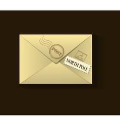 Beige xmas envelope vector