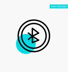 Bluetooth ui user interface turquoise highlight vector
