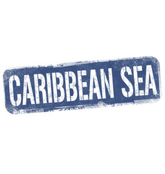 caribbean sea sign or stamp vector image