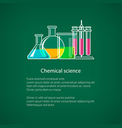 chemical laboratory equipment flyer vector image