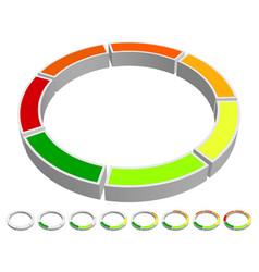 Circular-circle progress indicator chart info vector