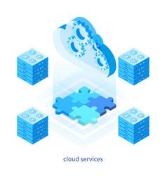 cloud services concept 05 vector image