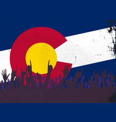 Colorado state flag with audience vector