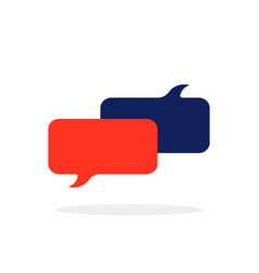 Colored chat room icon with popup vector