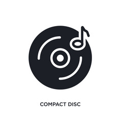 Compact disc isolated icon simple element from vector