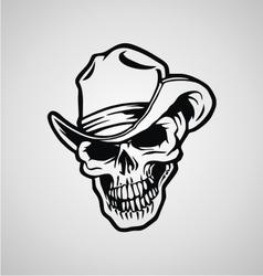 Cowboy Skulls vector image
