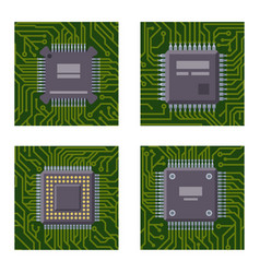 cpu microprocessors microchip brochure vector image