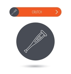 Crutch icon Orthopedic therapy sign vector image