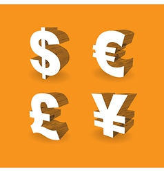Currencies Symbols vector image