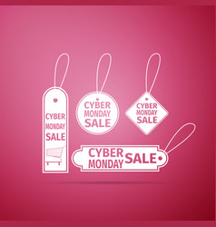 cyber monday sale tag icon isolated vector image
