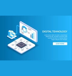 Didgital technology concept processing big vector