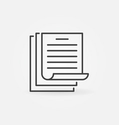 documents or papers concept outline icon or vector image