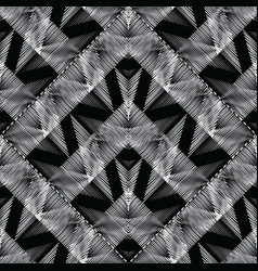 embroidery geometric modern seamless pattern vector image