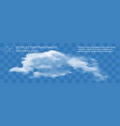 Fat cloud realistic transparent flow steam style vector