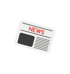 flat style icon concept of newspaper vector image