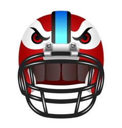 Football helmet with eyes vector image