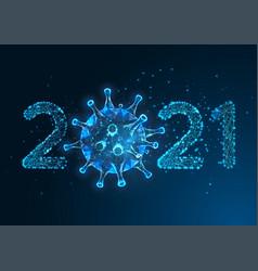 futuristic pandemic new year digital banner vector image