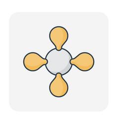 gas molecule icon vector image