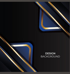 Gold abstract background banner with circle vector