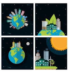 green cities concept vector image
