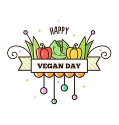Happy vegan day vector