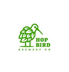 Hop bird logo vector