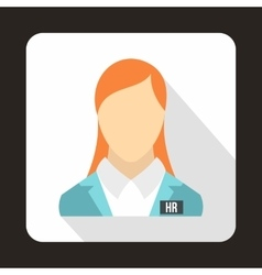HR management icon in flat style vector image