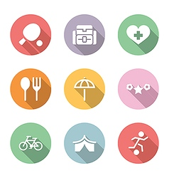 icon set activity and rest color with shadow vector image
