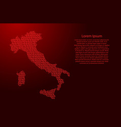 italy map abstract schematic from red ones and vector image