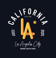 La los angeles california t-shirt design vector