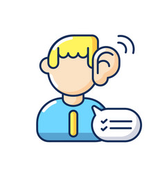 Listening skills rgb color icon vector