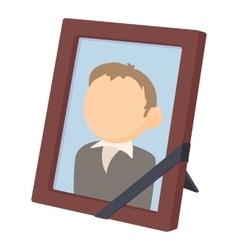 Memory portrait icon cartoon style vector