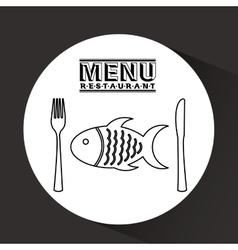 Menu delicious food design vector