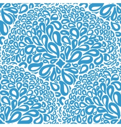 Moroccan tiles ornaments in blue and white colors vector image