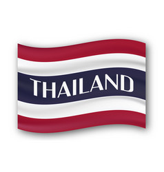 New type flag of thailand country with red blue vector